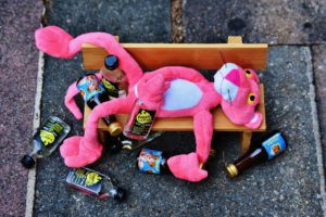 pink panther drinking